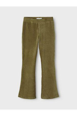 NAME IT Femme Pantalons bootcut - Pantalon Coupe bootcut côtelée