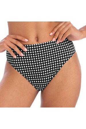 Freya Femme Bikinis - Bas de maillot de bain vichy taille haute Check in