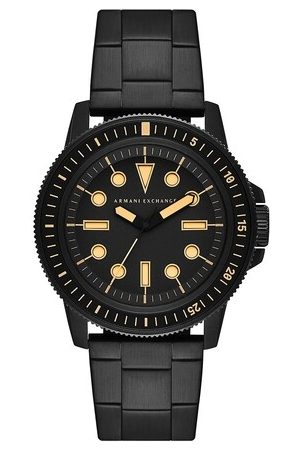 Armani Homme Montres - Three-Hand Stainless Steel Watch en black - pour dames