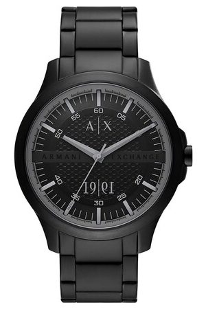 Armani Homme Montres - Three-Hand Date Stainless Steel Watch en black - pour dames