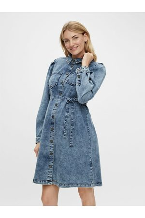 Mama Licious Femme Robes en jean - Robe grossesse MLLEONA DENIM