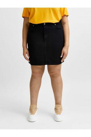 SELECTED Femme Mini-jupes - Jupe en jean Curve confort extensible