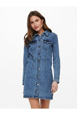 ONLY Robe en jean Manches longues