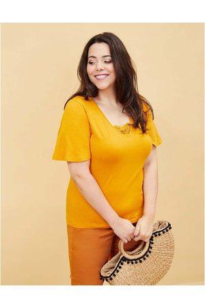 LA FIANCEE DU MEKONG T-shirt coton bio manches papillon TELLY