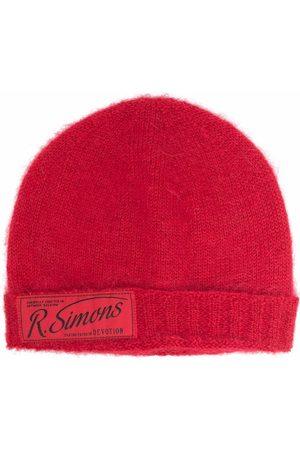 RAF SIMONS Homme Bonnets - Bonnet en maille à patch logo