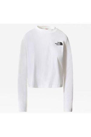 The North Face T-shirt Court À Manches Longues Pour Femme Tnf White Taille L
